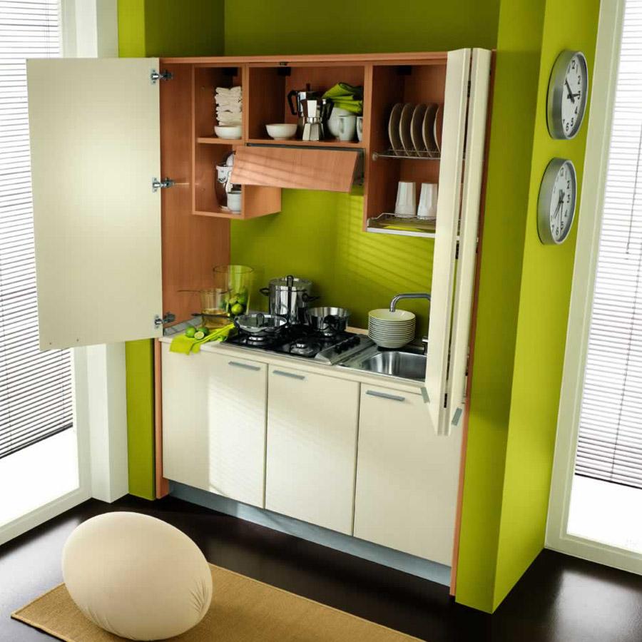 Mini Cucine A Scomparsa cucine monoblocco con ante chiudibili | simoni arreda