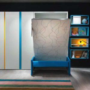 Letto a scomparsa Altea Book Sofa con divano e libreria incorporati