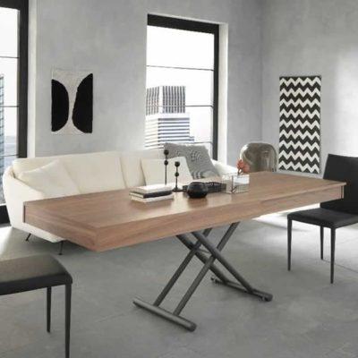 Tavolino trasformabile in tavolo da pranzo Febo