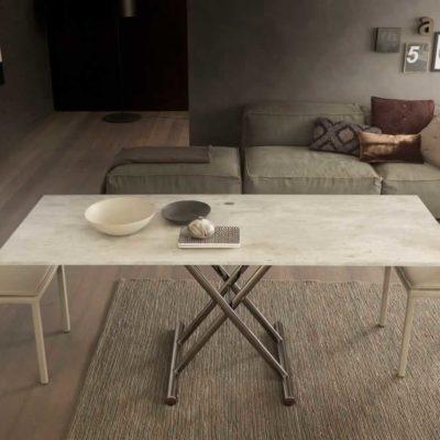 Tavolino trasformabile in tavolo da pranzo Gingillo