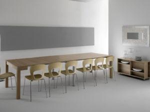 Tavolo a consolle allungabile Magic con mobiletto porta prolunghe