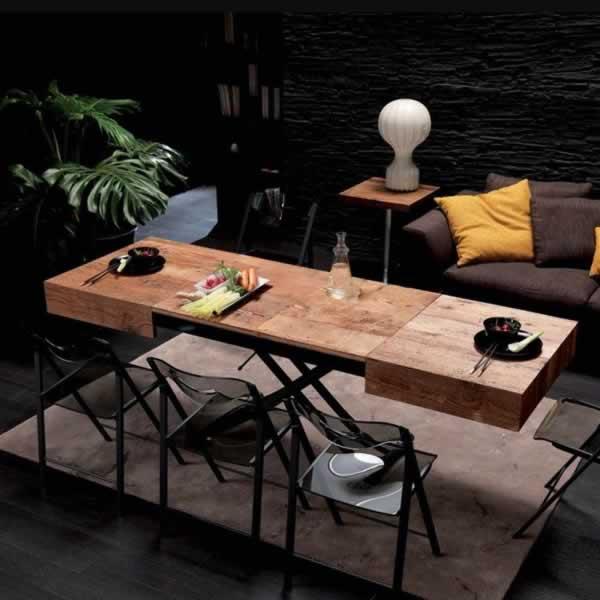 Tavolino trasformabile in tavolo da pranzo Ozzio Box
