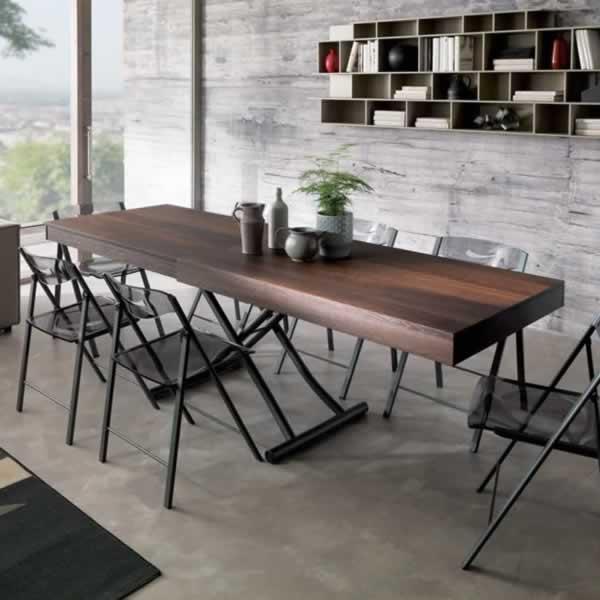 Tavolino trasformabile in tavolo da pranzo New Wood Ozzio