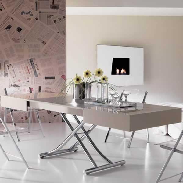 Tavolino trasformabile in tavolo da pranzo Ozzio Box (1 ...